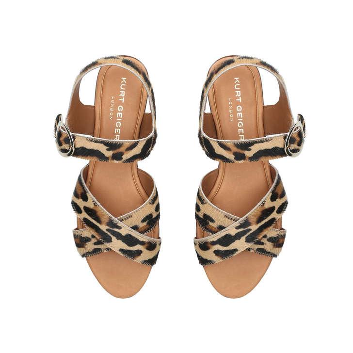 Dahlia Leopard Print Flat Sandals By