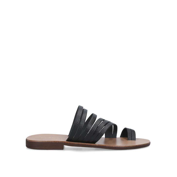 9687f1680014 Deliah Black Flat Sandals By Kurt Geiger London