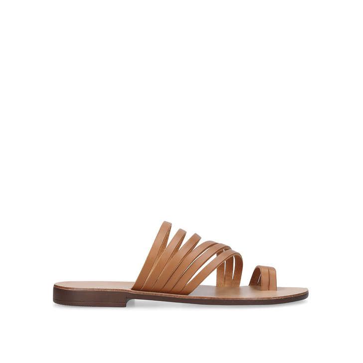 f43a65fc63ea17 Deliah Camel Flat Sandals By Kurt Geiger London