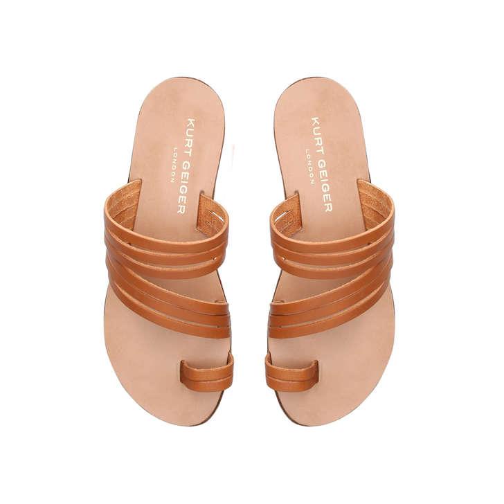 e159b5dfdc4b Deliah Camel Flat Sandals By Kurt Geiger London