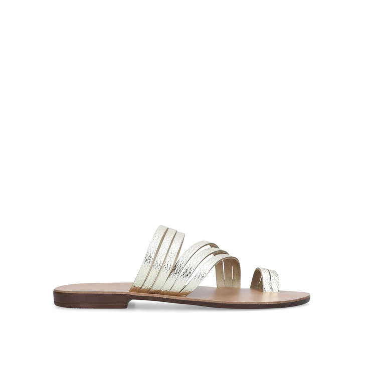 7465c5797a8d Deliah Gold Flat Sandals By Kurt Geiger London
