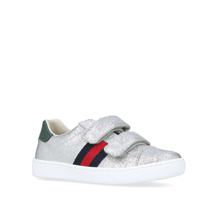 38a4d8ca4f3f New Ace Vl Glitter Girls Silver Trainers 5 - 6 Years By Gucci