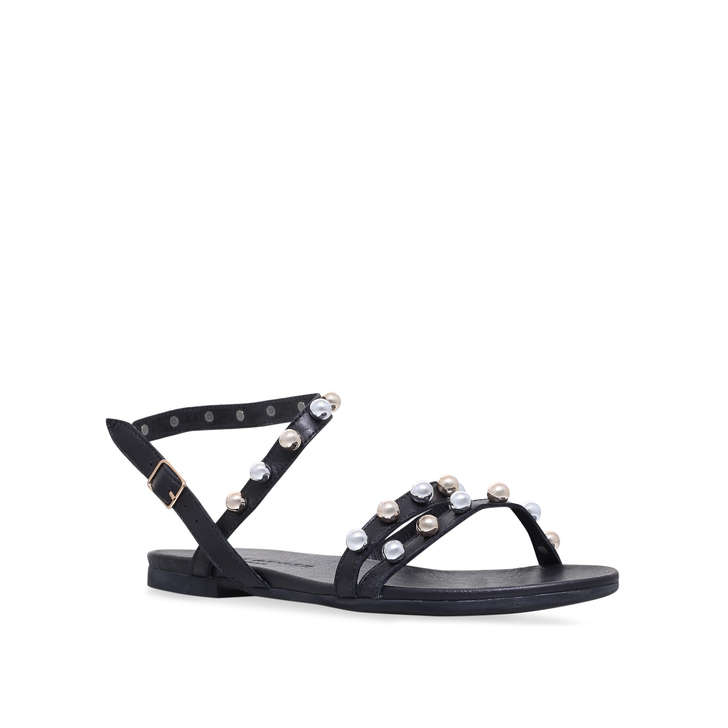 13f5a5d8915d Mia Black Studded Flat Sandals By Kurt Geiger London