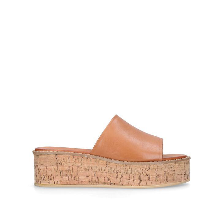 Maci Tan Flatform Sandals By Kurt