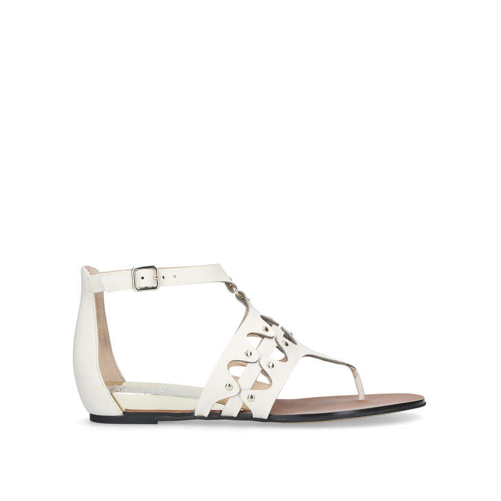 sale big sale White 'Arlanian' flat sandals genuine for sale clearance eastbay sale buy cheap online store EaHFrraG8