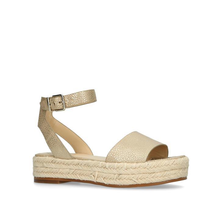 976aeb2f21 Kathalia Gold Flatform Sandals By Vince Camuto | Kurt Geiger
