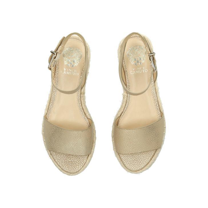 e9054199c78 Kathalia Gold Flatform Sandals By Vince Camuto