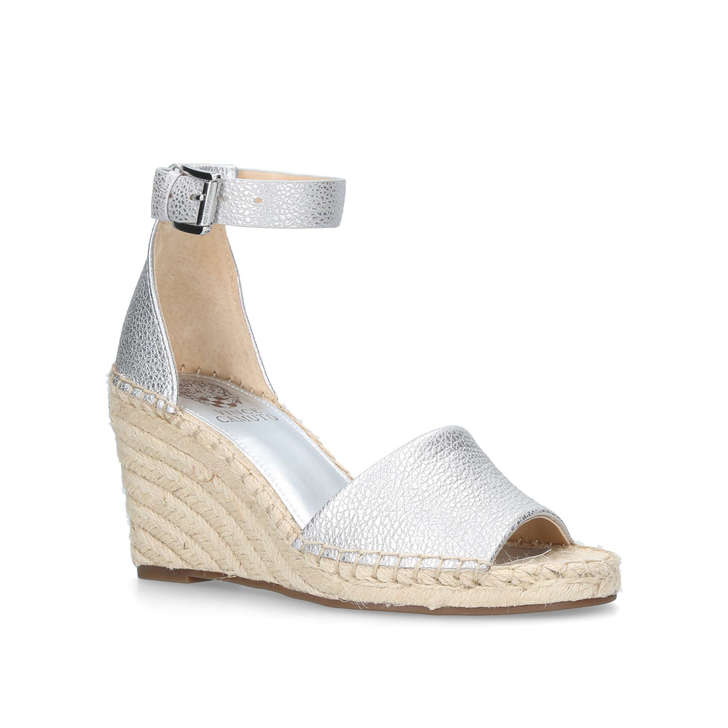 d5055a0b785 Leera Metallic Mid Heel Wedge Sandals By Vince Camuto