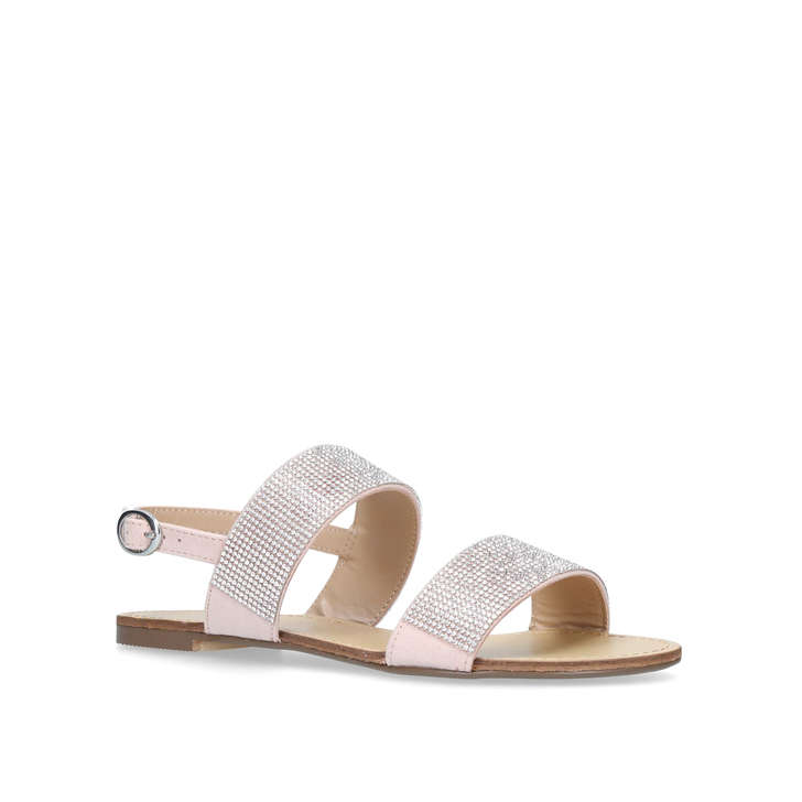 cdbc24c011d23 Beauty Nude Embellished Flat Sandals By Carvela