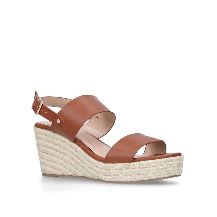 9250bed9e Bless Tan Espadrille Wedge Sandals By Carvela