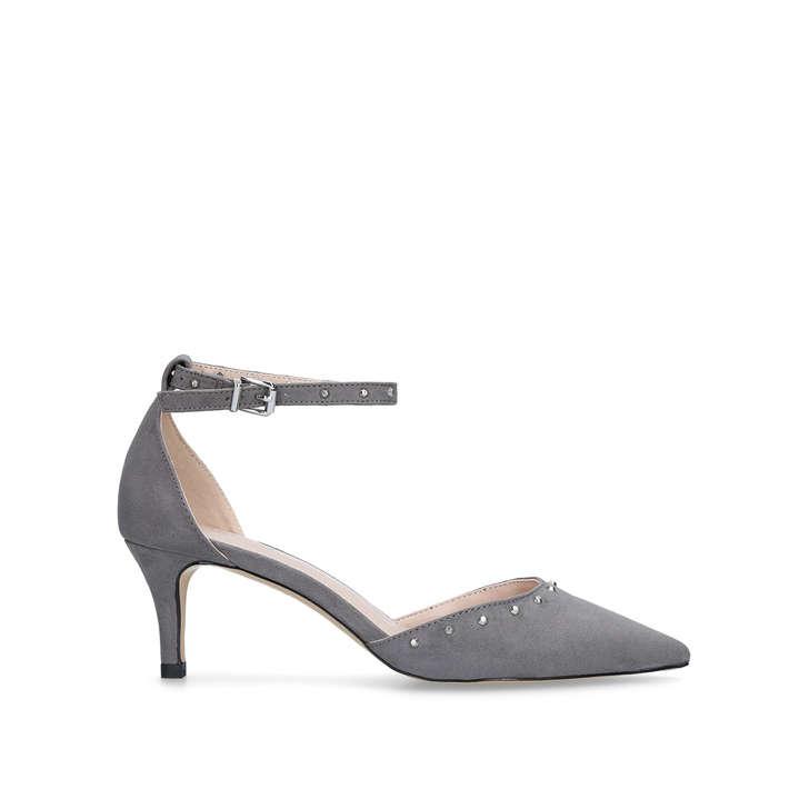 73929d863d2 Kanter Grey Studded Kitten Heels By Carvela