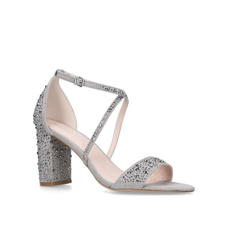 discount geniue stockist Grey 'Loyalty' mid heel sandals from china cheap sale from china cXvsz91zV