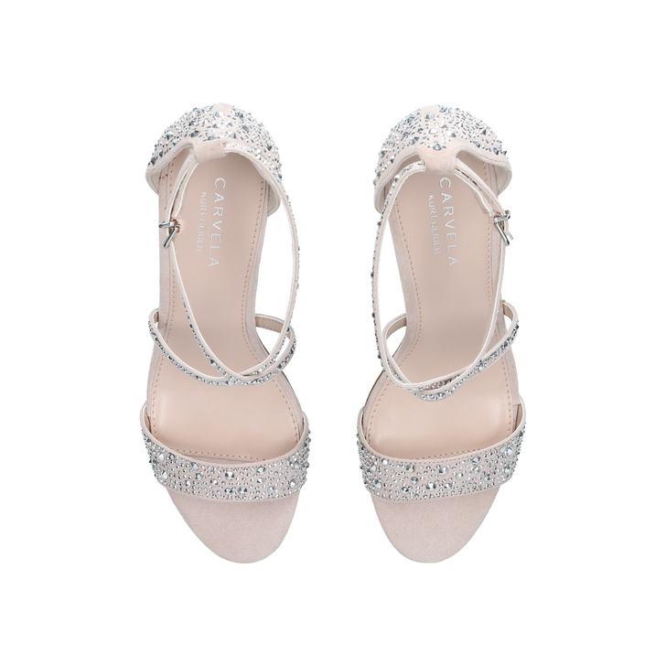 Carvela Loyal - nude mid heel sandal Geniue Stockist Cheap Price Buy Cheap 2018 Newest Fake For Sale p5LI40Nm