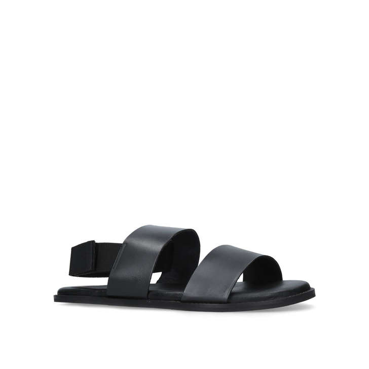 best prices discount 100% guaranteed Kurt Geiger London Usher Leather Sandals In Black outlet shop offer k7zVq