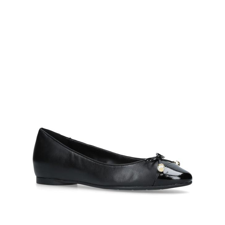 6e8624b3a Gia Pearl Ballet Black Flat Ballerinas By Michael Michael Kors   Kurt Geiger