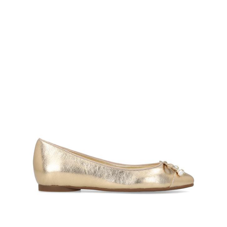 e01f100446dc Gia Pearl Ballet Gold Flat Ballerinas By Michael Michael Kors