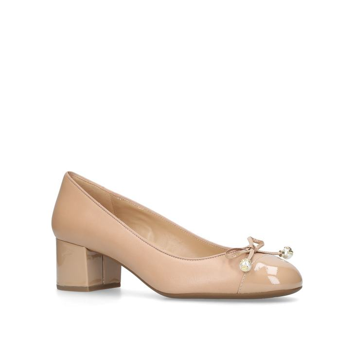 40422189185d Gia Pearl Mid Pump Tan Low Heel Court Shoes By Michael Michael Kors ...