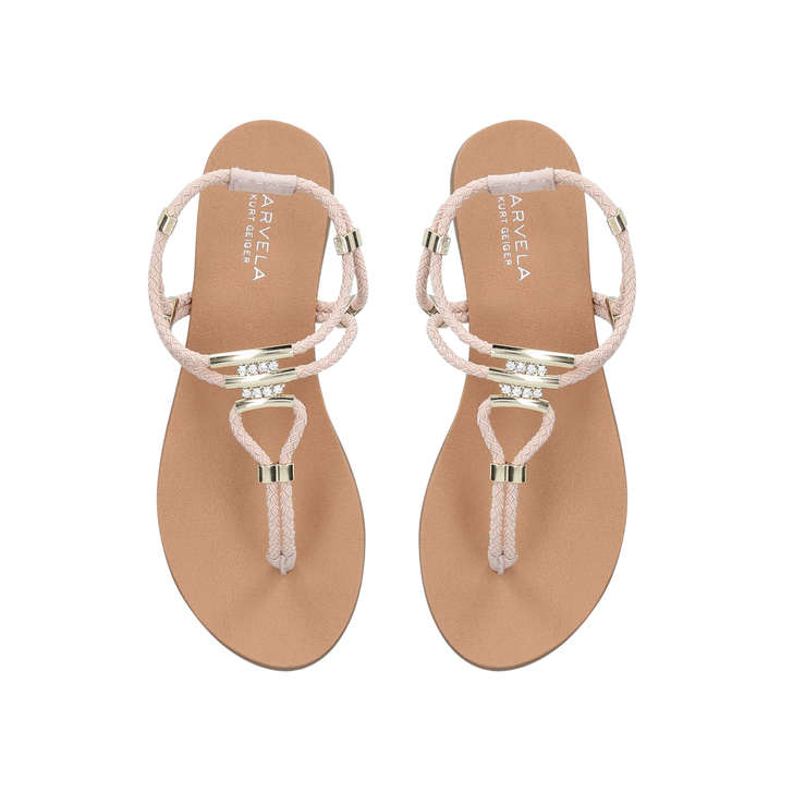 dd669bafa Ace Nude Flat Sandals By Carvela