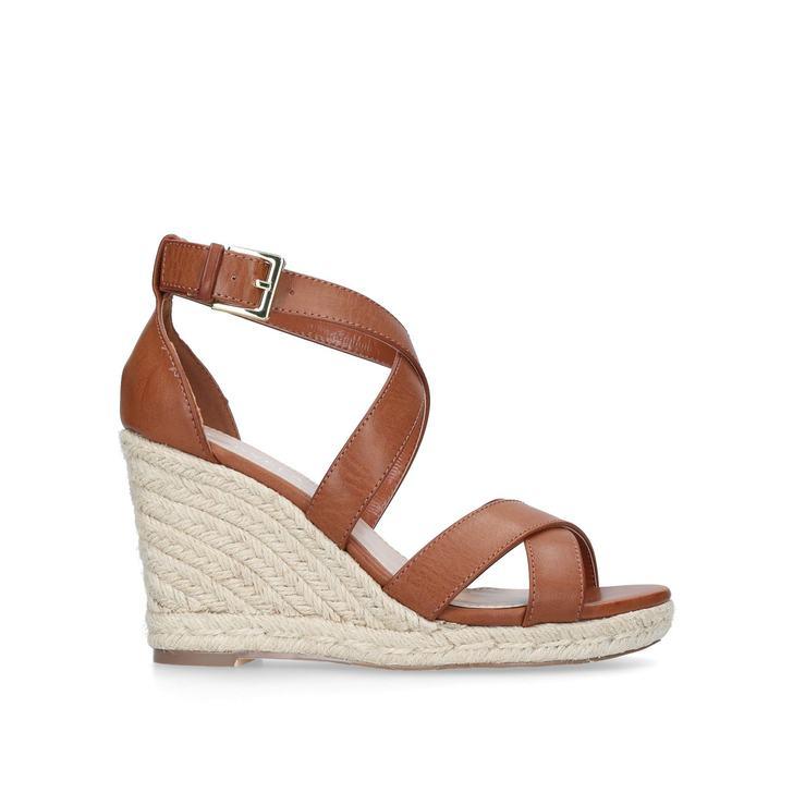 Carvela Smashing - tan espadrille wedge sandals Wholesale 100% Authentic hc82lS