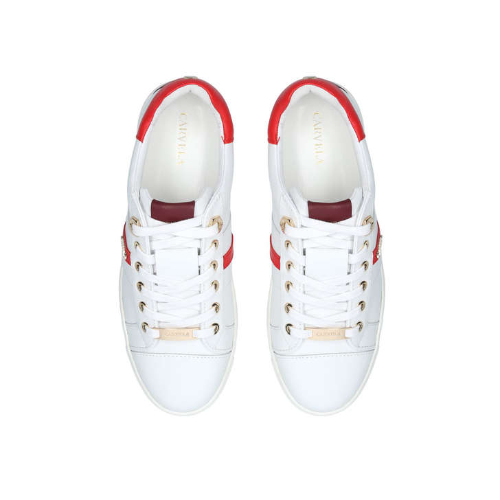 discount sale price remains stable undefeated x Lisa White Low Top Trainers By Carvela | Kurt Geiger