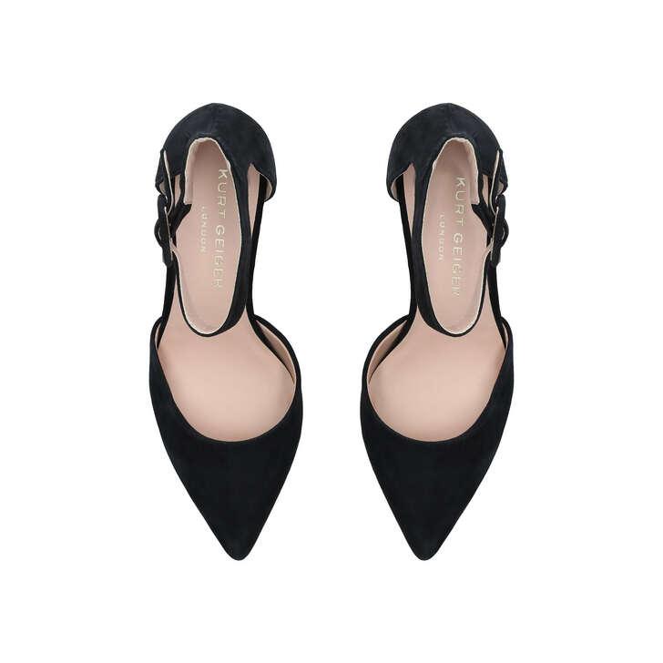 Burlington Black Block Heeled Court Shoes By Kurt Geiger