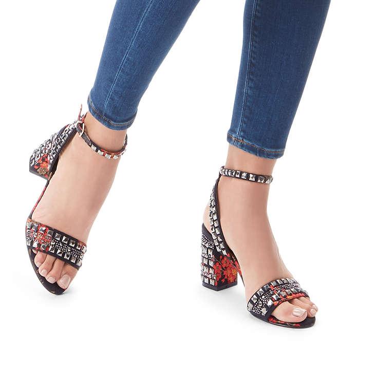 173ffb9662c Gill Red Embellished Block Heeled Sandals By Carvela