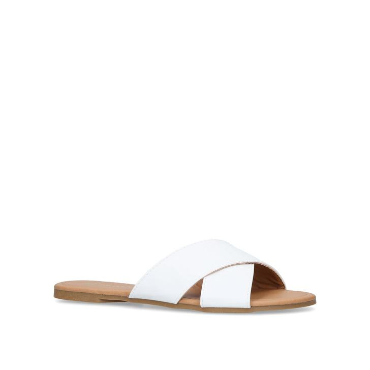 White 'Rex' flat sandals websites for sale free shipping cheapest price visit new cheap price dfEsWBo