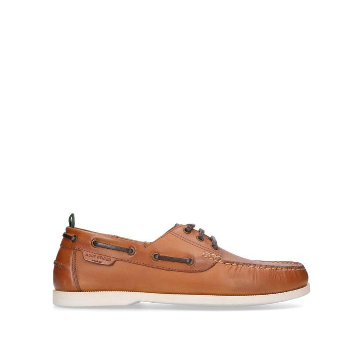 Kurt Geiger Chaussures Bateau En Cuir Londres En Brun - Brun VrHb9X