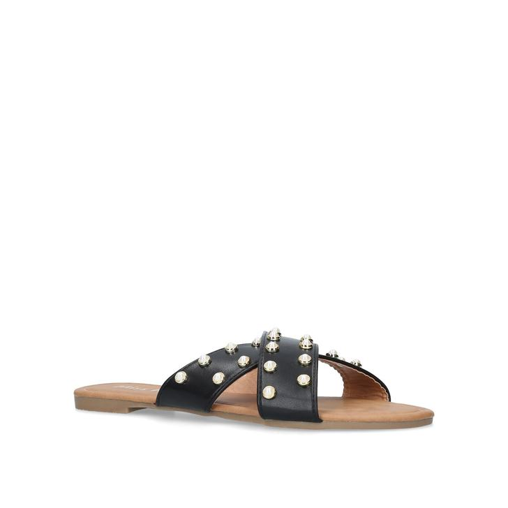 Black 'Rocco' flat sandals Manchester for sale many kinds of cheap sale looking for jy34PnQrv