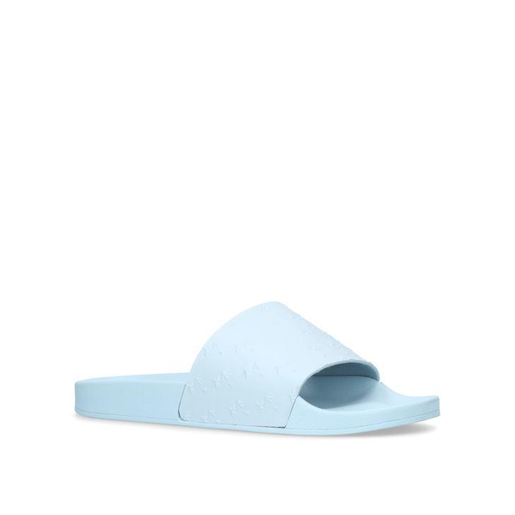 08ac57d81022 Waikato Palm Blue Sliders By Kurt Geiger London