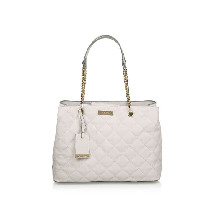 9e62cb21773a Blair Quilted Shopper Cream Quilted Tote Bag By Carvela