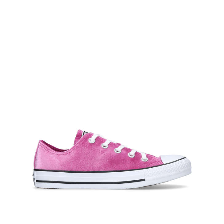Ct Velvet Low Pink Low Top Trainers By Converse Kurt Geiger