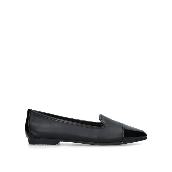 MERCY Black Flat Ballerina Shoes by