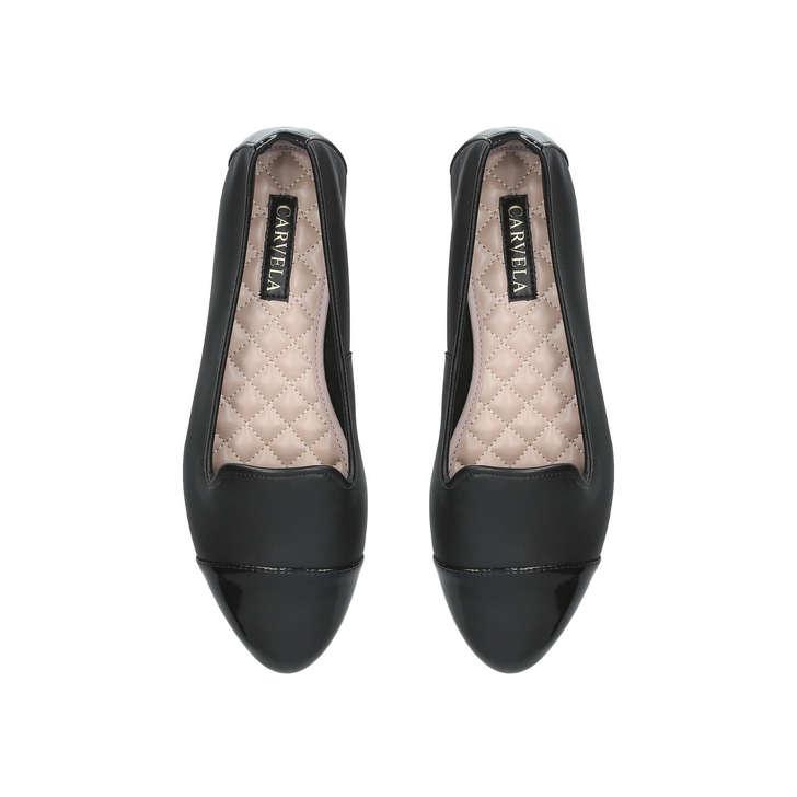 82f75e515d6f Mercy Black Flat Ballerina Shoes By Carvela