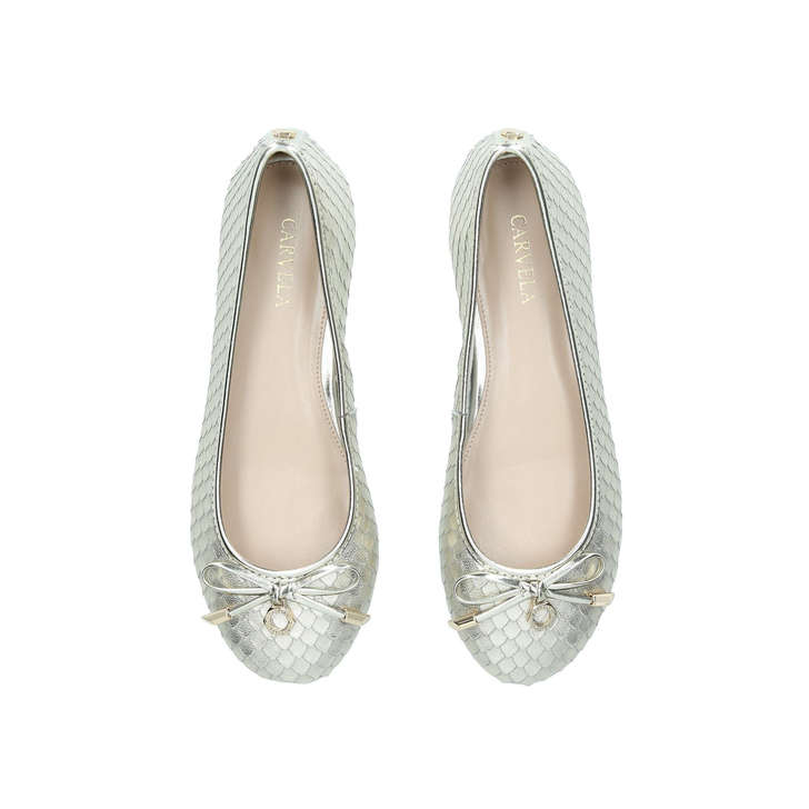8685cb25d26 Magic Gold Leather Ballerina Shoes By Carvela