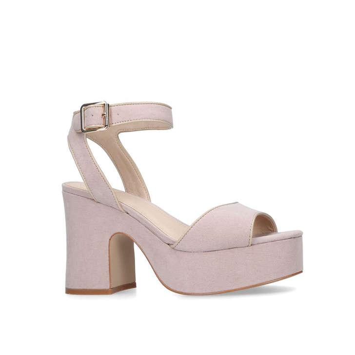 486de14d93f5 Flynn Nude Platform Heeled Sandals By KG Kurt Geiger