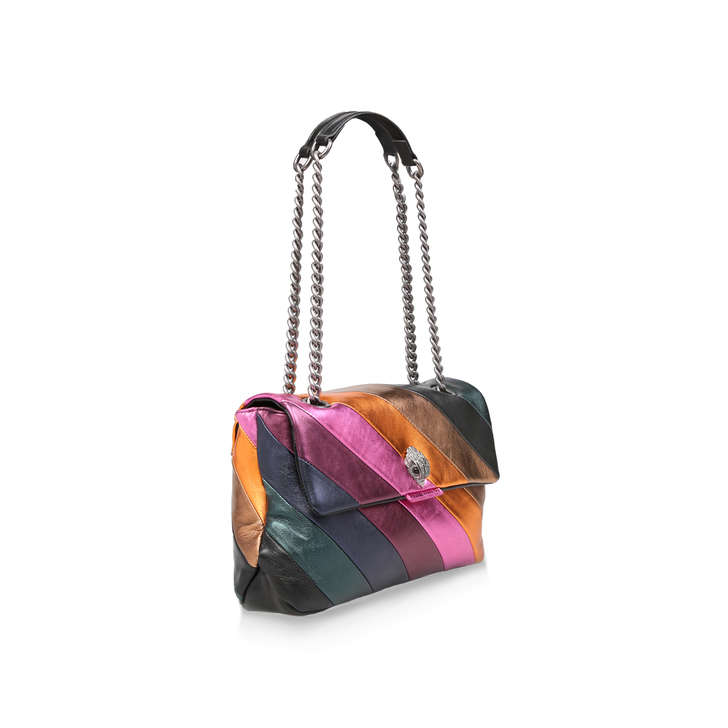 1cae054676 Lthr Lg Kensington S Bag Metallic Rainbow Stripe Shoulder Bag By Kurt  Geiger London