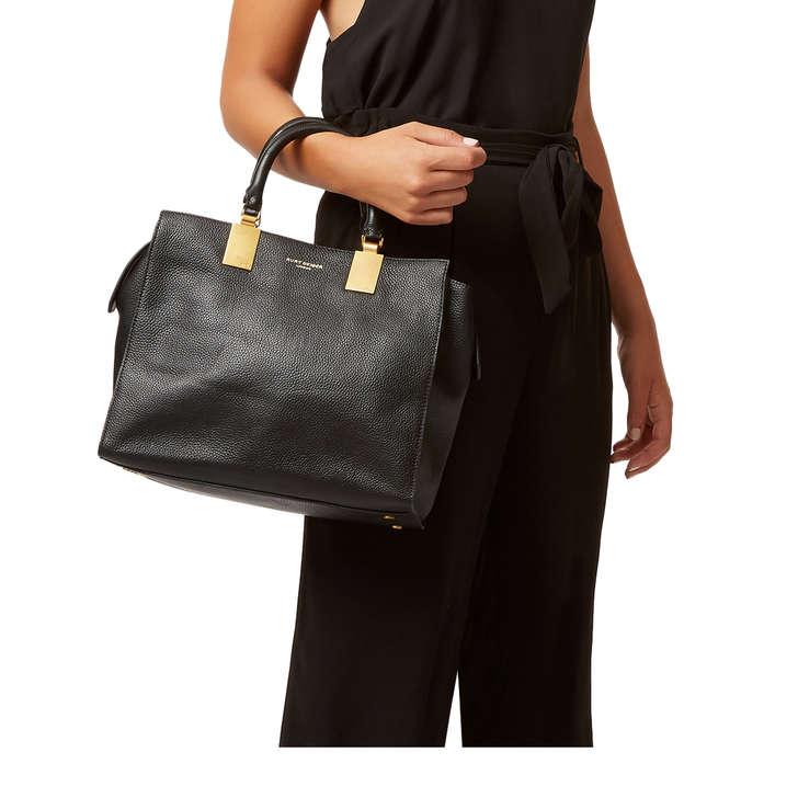 6377c46151af Leather Emma Tote Black Leather Tote Bag By Kurt Geiger London ...