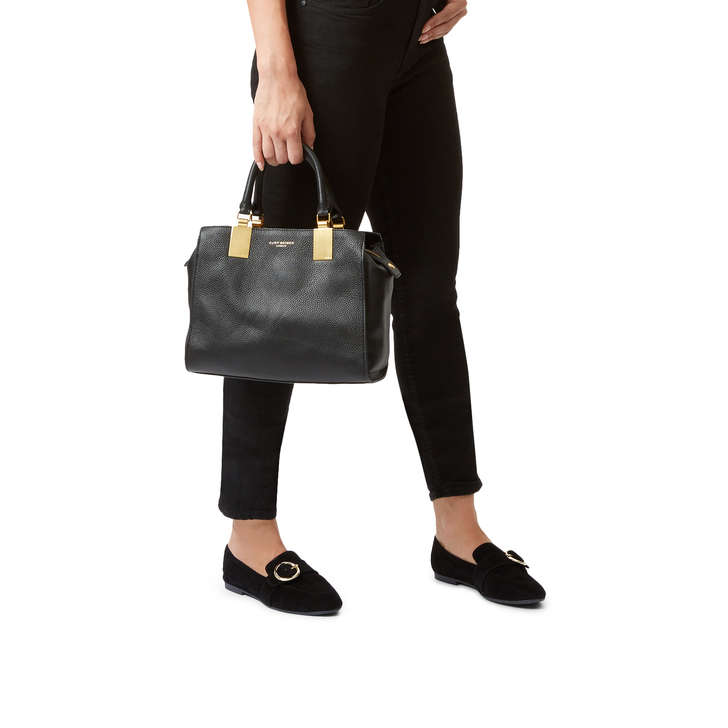 911cd85c44bea Leather Emma Sm Tote Black Leather Tote Bag By Kurt Geiger London ...