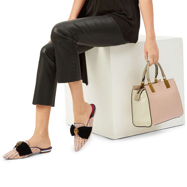 Leather Emma Sm Tote Pink Leather Tote Bag By Kurt Geiger