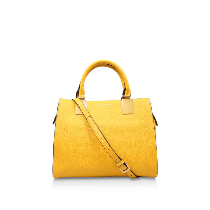 Leather Emma Sm Tote Yellow Leather Tote Bag By Kurt Geiger London ...