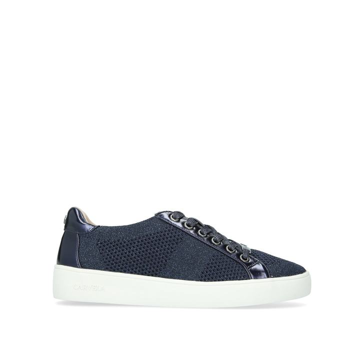 Jealousy Navy Blue Low Top Trainers By