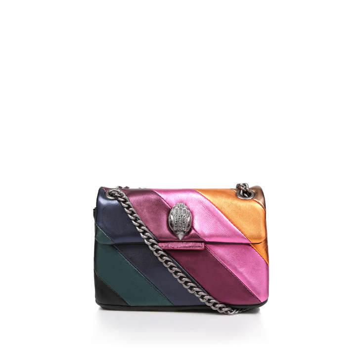 12f40f974d9a Mini Kensington S Bag Metallic Rainbow Stripe Mini Shoulder Bag By Kurt  Geiger London | Kurt Geiger