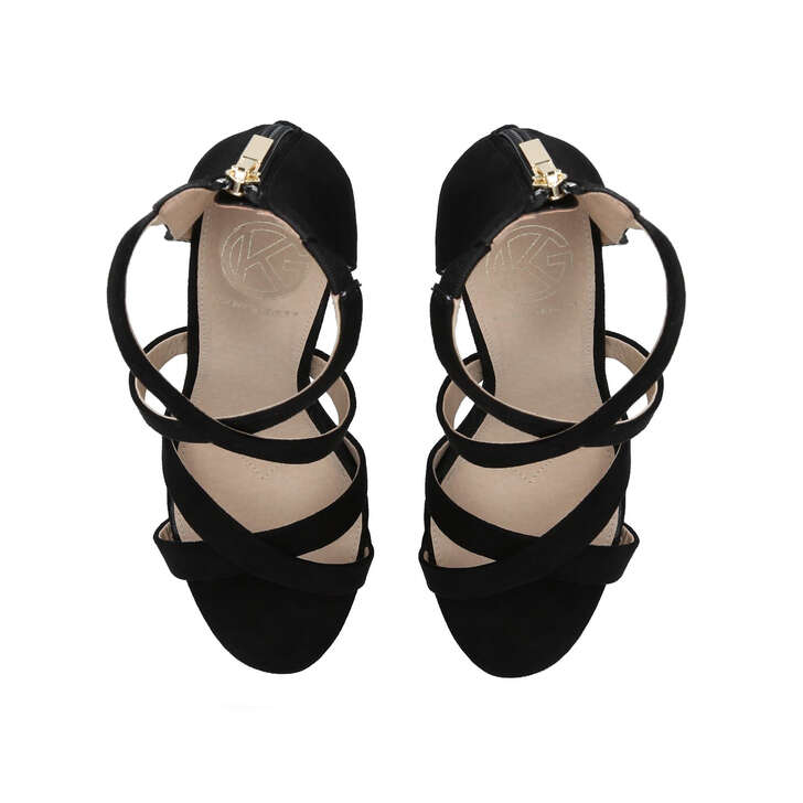 Faun2 Black Block Heel Sandals By KG