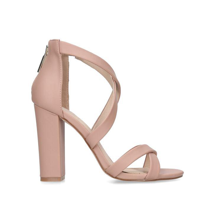 e922fc64c50e Faun2 Nude Block Heel Sandals By KG Kurt Geiger