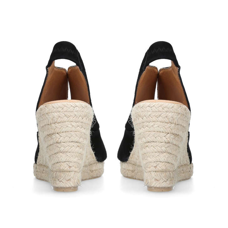 68975680c70 Sara Black Mid Heel Wedge Sandals By Carvela Comfort