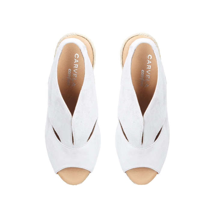 723572062dc5 Sara Light Grey Mid Heel Wedges By Carvela Comfort