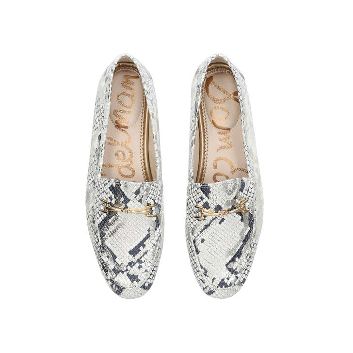 54bbd00fb Loraine Loafer Monochrome Leather Snake Print Loafers By Sam Edelman ...