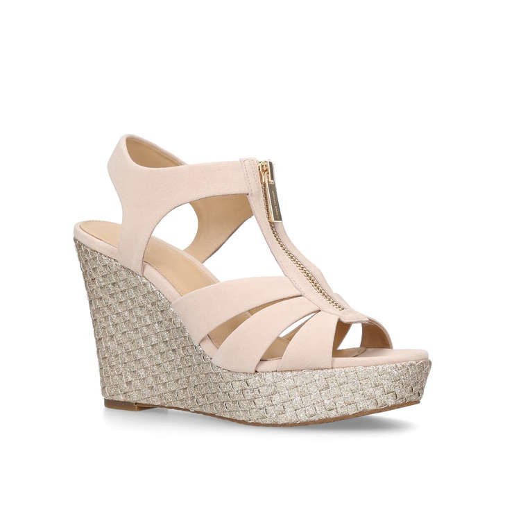 2db53ac91d3 Berkley Wedge Beige Wedge Sandals By Michael Michael Kors