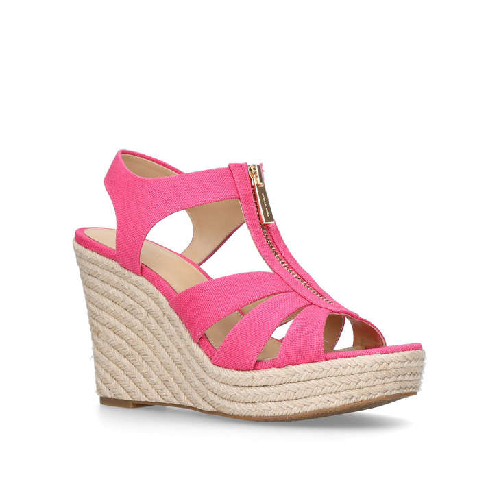 eb864b65247 Berkley Wedge Pink Wedge Sandals By Michael Michael Kors